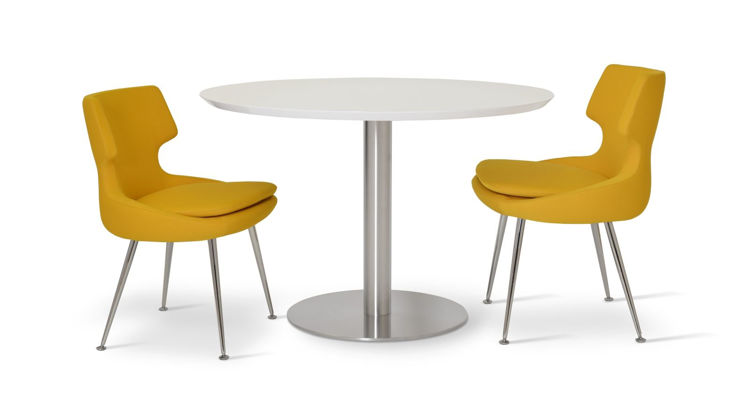 patara_dining_chair chrome _tango_diining_table _top_dia43_inch _s_steels_round_base_dia_23_inch_1_ down