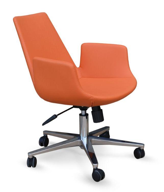 eiffel_arm_office_ _orange_leatherette_alimunium_base_2 downxxxx