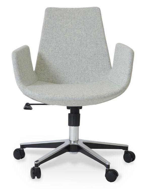 eiffel_arm_office_base_24_inch_ _camira_wool_silver downxxxx