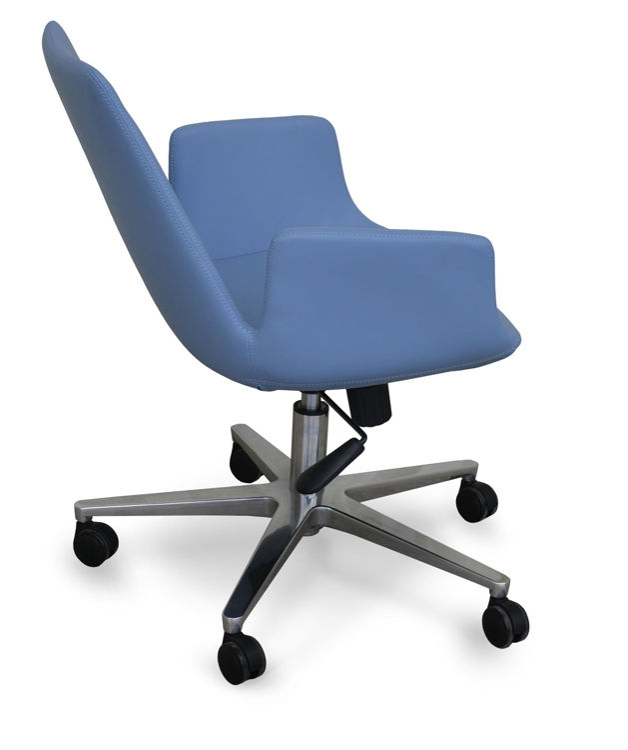 eiffel_arm_office_ _blue_leatherette_arden_alimunium_base downxxx