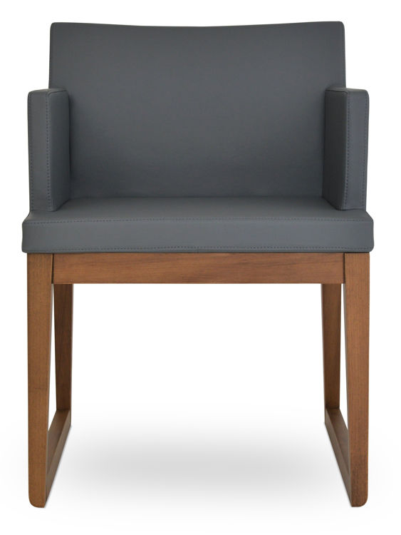 soho_wood_sddlide_armchair _beech_wood_walnut_finish _f soft_leatherette_ _grey_610_