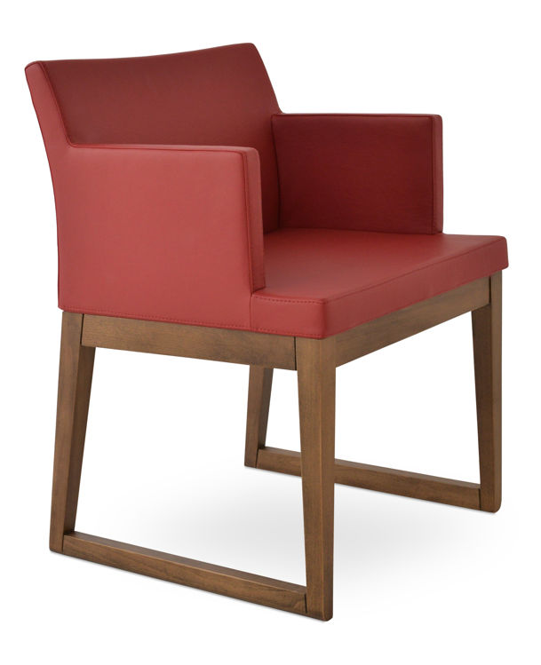 soho_wood_sfflide_armchair _beech_wood_walnut_finish _f soft_leatherette_ _red_260_