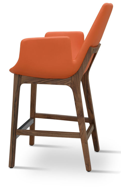 eiffel_arm wood_counter _american_walnut orange_leatherette downxxxxx