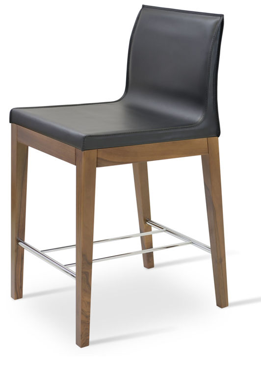 polo_wood_counter _walnut _bonded_leather black down