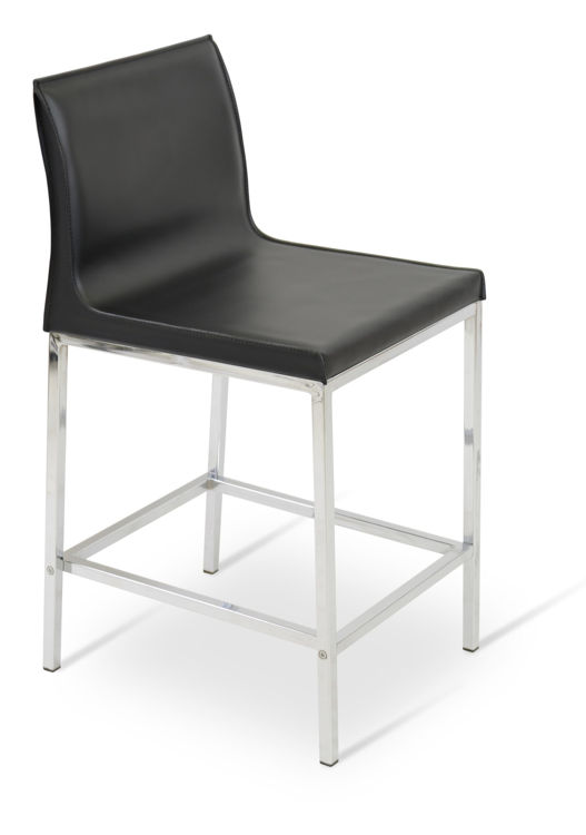 polo_chrome _counter black_bonded_leather down