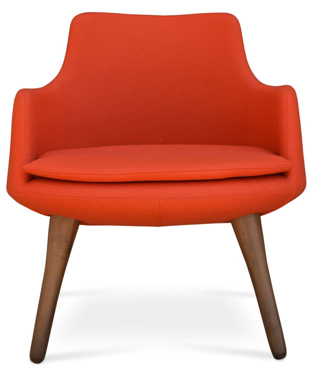 drvish_lounge armchair _camira_orange _walnut down
