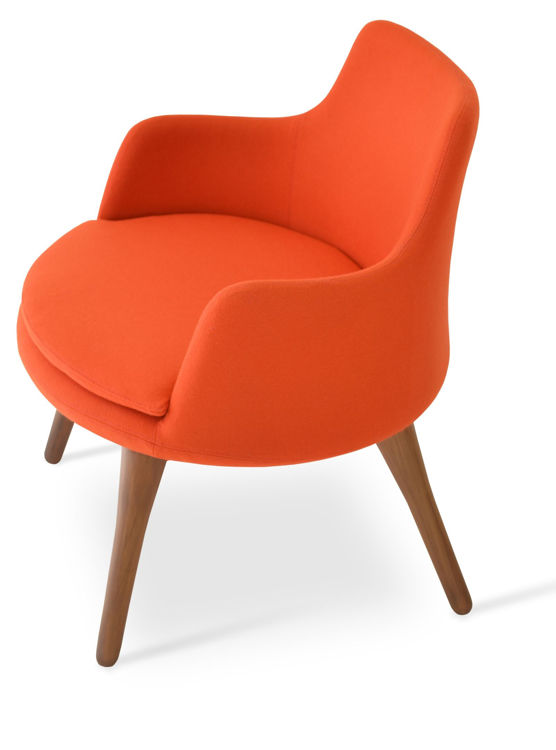 dervish_lounge _walnut_wood _orange_camira down