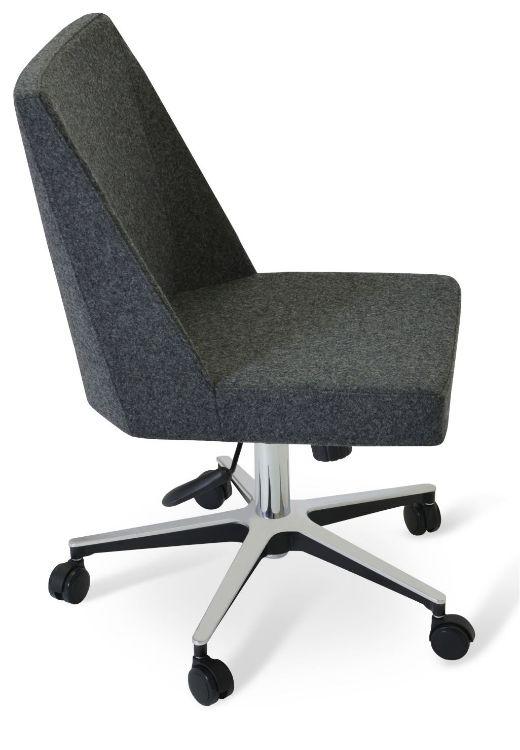 prisma_office_base_aluminium_24_inch camira_wool _dark_grey_silcoates_ _cuz30_1_ down