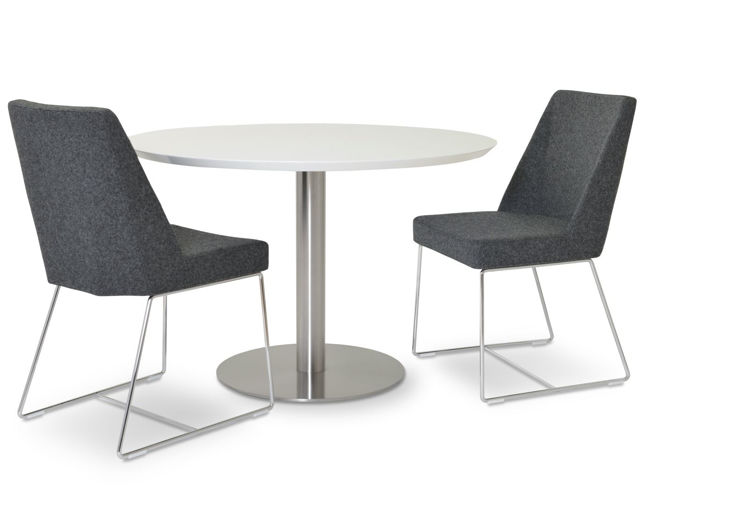 prisma_wire camira_dark_grey _tango_dining_table_white_lacquer_top ss_base_1_ down