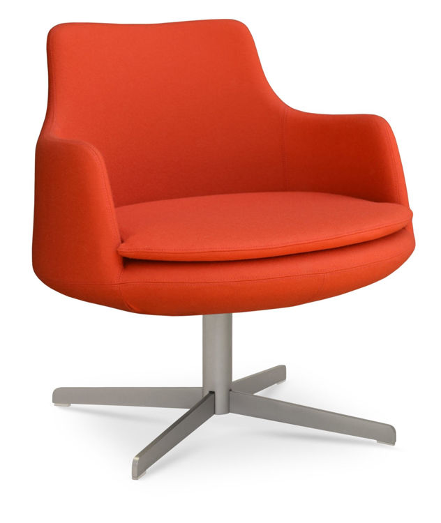 dervish_lounge_4_star armchair _camira_orange down