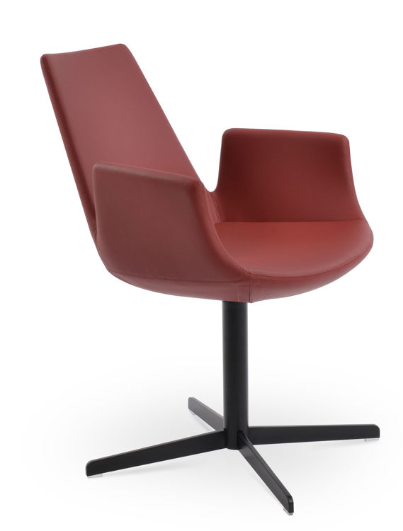 eiffel_arm_chair _4_staooor_black_finish _fsoft_eco_leather red 1