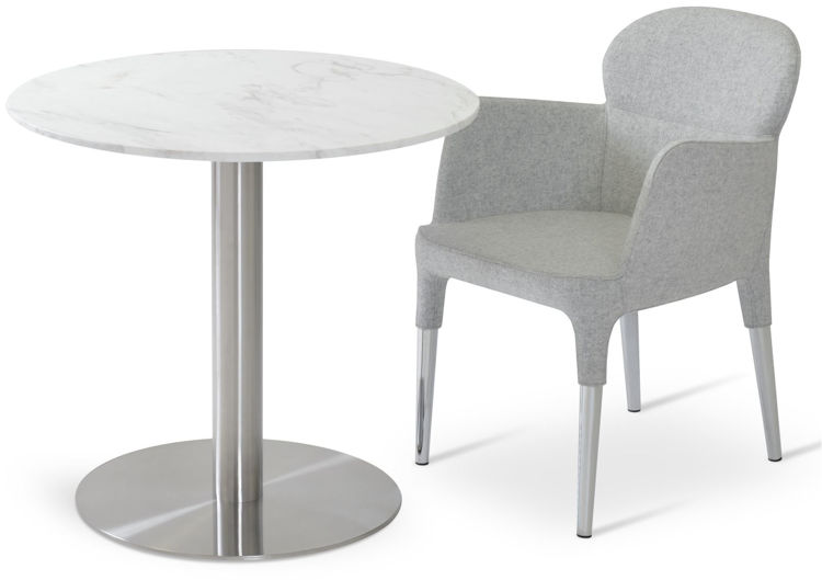 rosa camira_silver_wool _tango_marble_table down