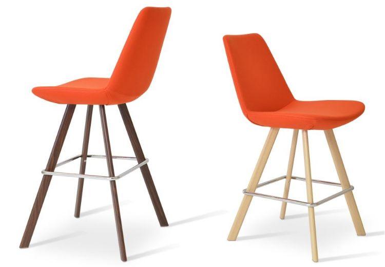 eiffel_sword stools camira_wool _orange _base_natural_veneer _walnut_veneer _1_1_ side