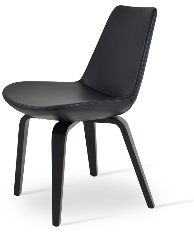 eiffel_dining_chair _gleather black _ plywood _wenge_finish