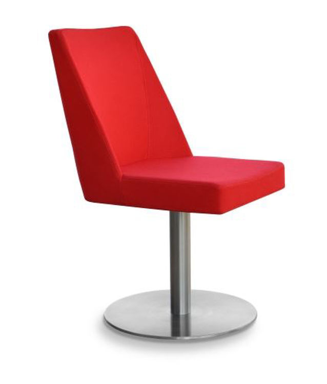 prisma_round_swivel_base _s_steels camira_red _1_ side