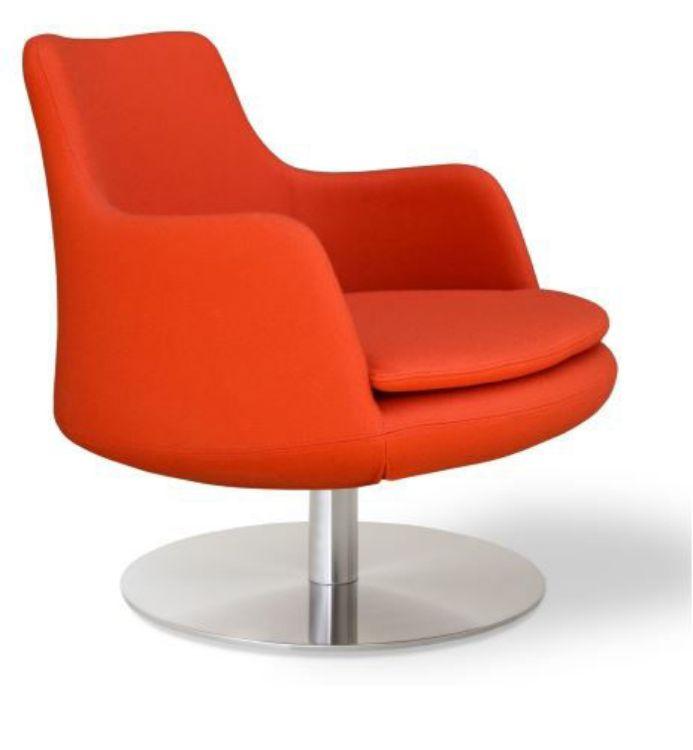 dervish_lounge_swivel armchair _camira_orange side
