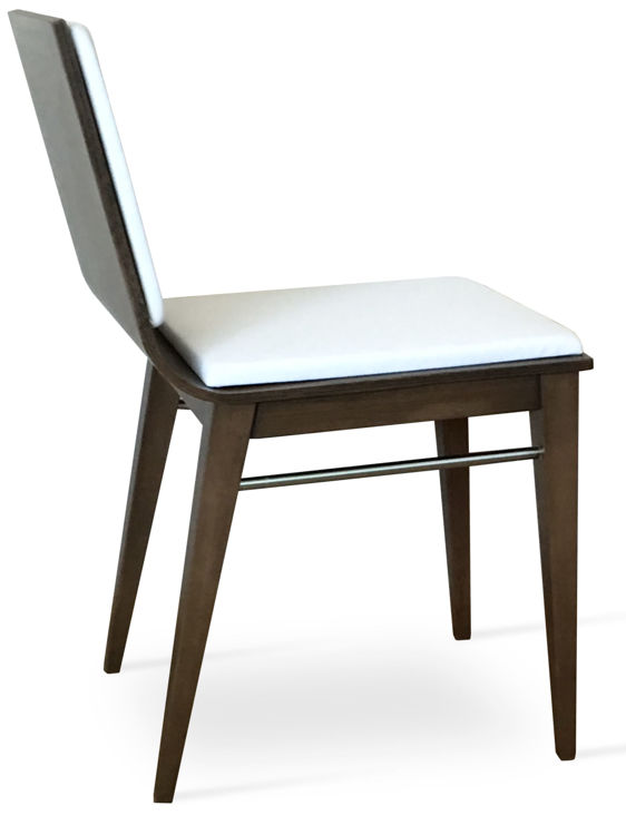 corona_dining_chair _plywood_seat_shell _base beech_wood_walnut_stain chrome_side_support _with_pad _ f_1_2