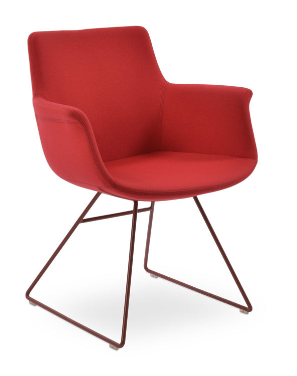 bottega_kkwire red_paint chair_ _camira_era_red_cse06_