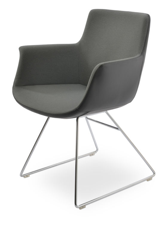 bottegakk_wire_arm_chair_ _chrome_finish _camira_era_fabric_grey _1_