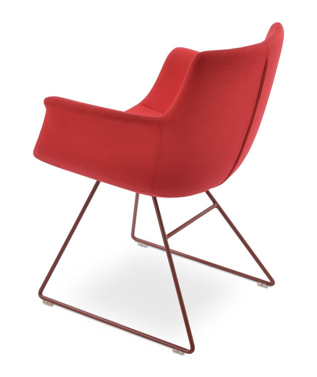 bottegall_wire_arm_chair _red_finish camira_era_fabric _red _cse06_1_