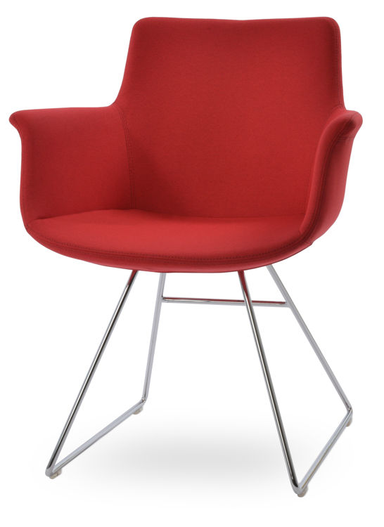 bottegjja_wire_arm_chair _chrome camira_era_fabric _red _cse06_15_