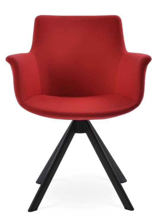 bottega_sworddd_arm_chair _black_paint camira_era_fabric _red _cse06_7_