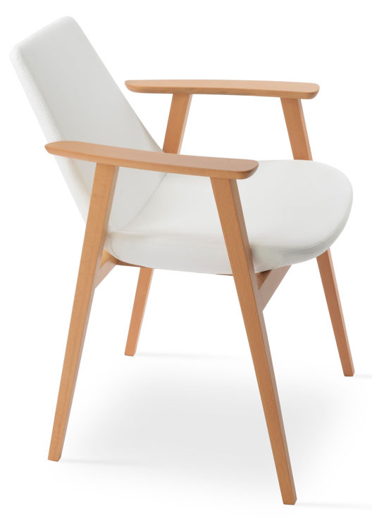 eiffel_gujjest_wood_arm_chair_beech_wood _natural_finish_ _ppm_white_ _1_