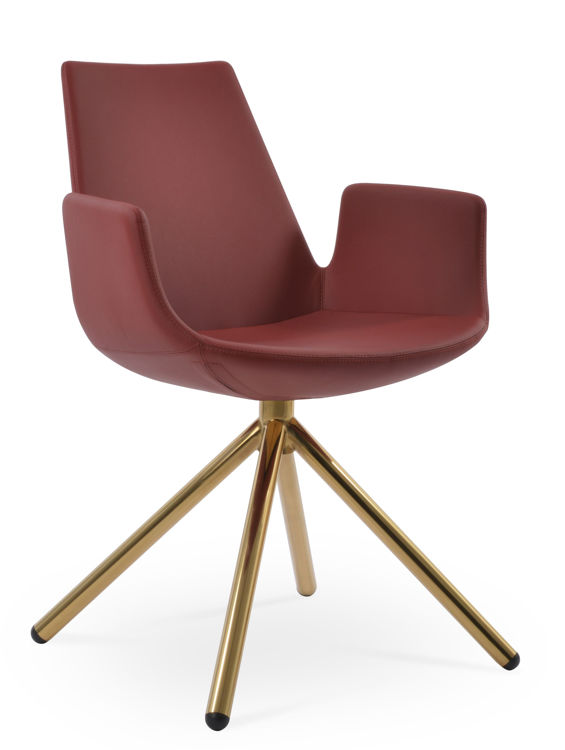 eiffel_arm_chair _sootick_gold _finish _fsoft_leatherette red _1_1