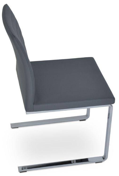 zeyno_flat diniddng_chair chrome _fsoft_grey_