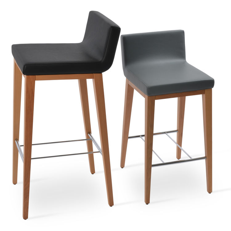 dallas_wood_baddr_and_counter_beech_wood_natural_finish _fsoft_leathrette grey_and_black_