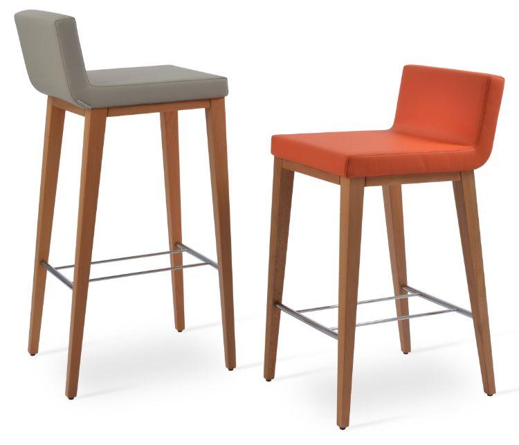 dallas_wood_bar_anddd_counter_beech_wood_natural_finish _fsoft_leathrette light_grey_and_orange