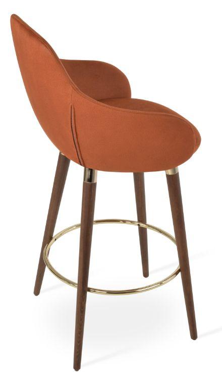 gazel_arm_bar _wdddood _gold_ring _dining_seat_nubuck_fabric_cognac_312_1