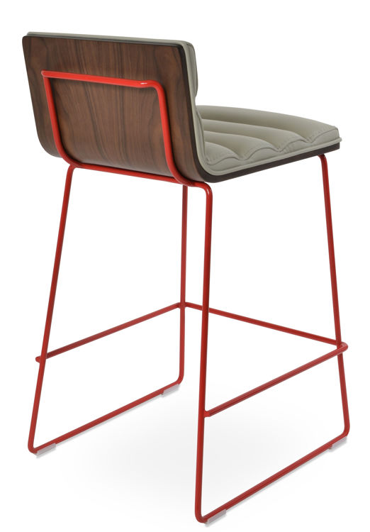 corona_comfort_widdre_counter_hb_ _leatherette_fsoft_ _light_grey_wire_red_color_paint_2_