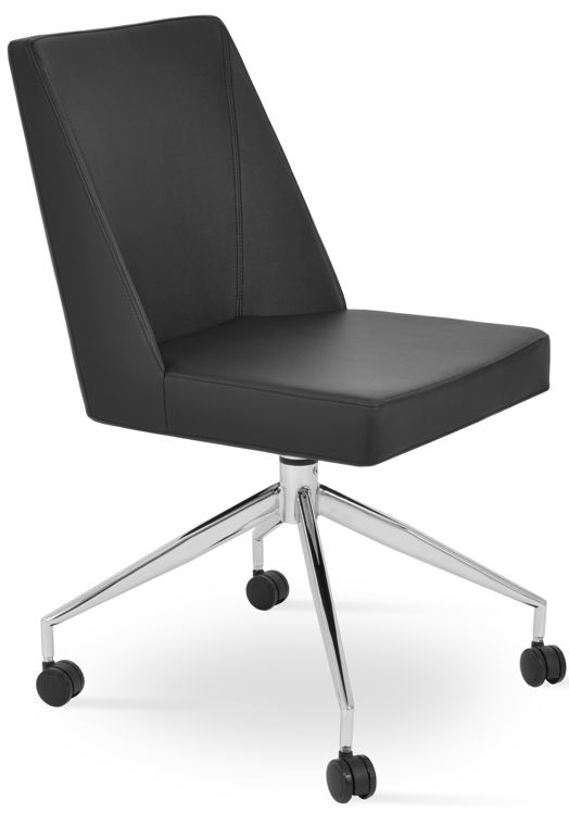 prisma_chair spidddr_base_with_caster _office_ black_leatherette