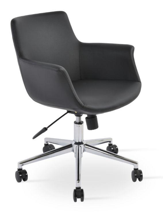 bottega_ofddfice_arm_chair_eco_leather_fsoft_ _black_901_ _tubacim _kolda_kirisiklik_var