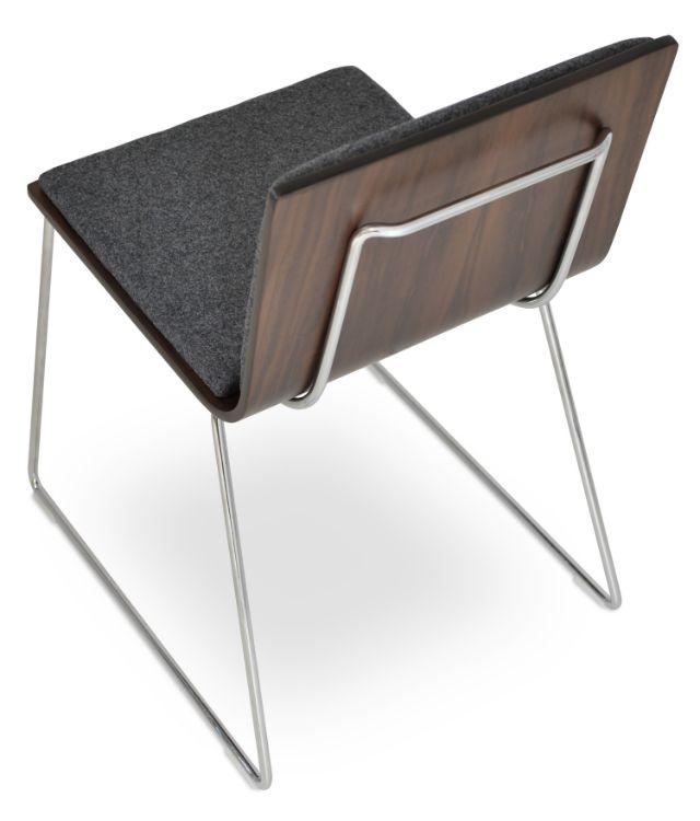 corona_dining_handle_back wire_chair_plywood_shell _american_walnut _pad_camira_dark_grey jpg