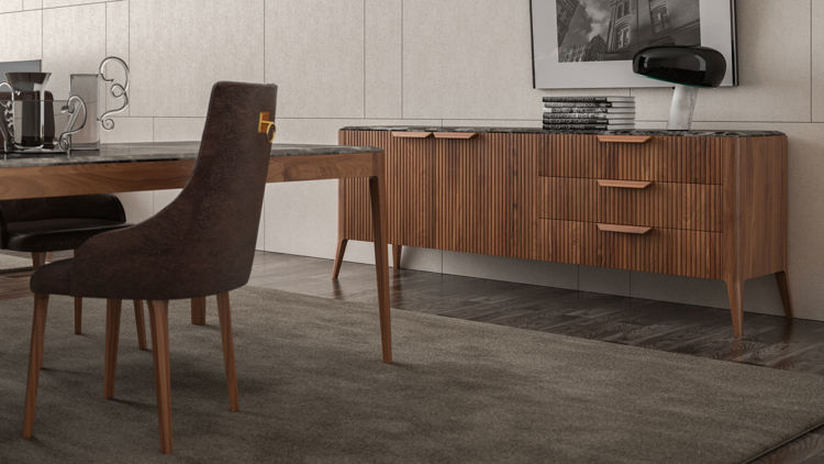 Picture of Round Sideboard